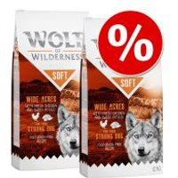 Wolf of Wilderness Soft & Strong 2 x 12 kg - Pack Ahorro - High Valley con vacuno