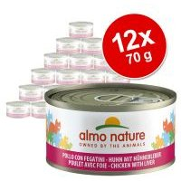 Almo Nature 12 x 70 g - Pack Ahorro - Trucha y atún en gelatina