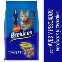 Brekkies Complet Selección de aves y pescados, verduras y cereales para gatos - 2 x 15 kg - Pack Ahorro