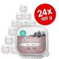 Smilla Fine Menu 24 x 100 g - Pack Ahorro - Pavo y conejo