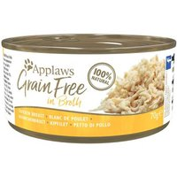 Applaws Grainfree in Broth 24 x 70 g  - Hühnchenbrust