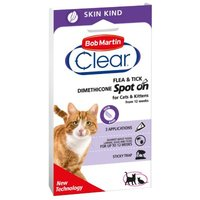 Bob Martin Clear Spot on für Katzen - 3 x 0,7 ml