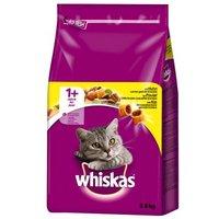 Sparpaket Whiskas 2 x Trockenfutter - 1+ Lamm (2 x 3,8 kg)