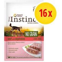 Pack ahorro True Instinct No Grain Paté 16 x 70 g para gatos - Salmón y verduras