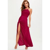 MissguidedPurple Slinky Maxi Dress, Pink