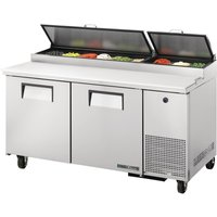 True 2 Door Pizza Prep Table TPP-67-HC