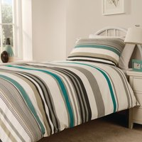 Essentials Madison Stripe Duvet Cover Open Teal Single