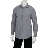 chef-works-chambray-mens-long-sleeve-shirt-grey-xs-size-xs