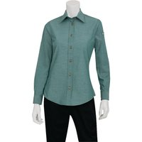 chef-works-womens-chambray-long-sleeve-shirt-green-mist-2xl-size-xxl