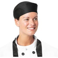 Nisbets Essentials Chef Skull Caps Black (Pack of 2) Pack of 2