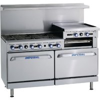 Imperial 6 Burner Propane Gas Oven Range with Griddle IR6RG24-P
