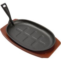 olympia-cast-iron-oval-sizzler-with-wooden-stand-280mm