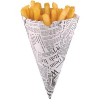 disposable-newspaper-print-paper-chip-cones