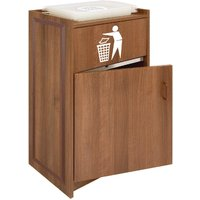 walnut-litter-bin-with-tray-stand-90ltr