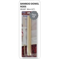 PME Bamboo Dowel Rods (Pack of 12) Pack of 12