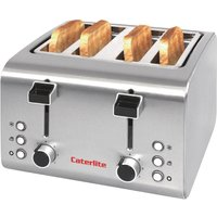 Buy Caterlite 4 Slot Stainless Steel Toaster - Nisbets plc