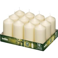 Ivory Pillar Tall Candles 130mm (Pack of 12) Pack of 12