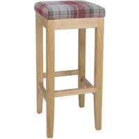 Bolero Austin High Stools Wine Tartan (Single)