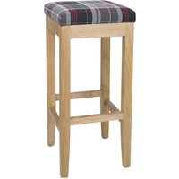 Bolero Austin High Stools Grey Tartan (Single)