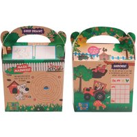 Craftis Kids Recycled Kraft Bizzi Meal Boxes Pet and Farm (Pack of 200) Pack of 200