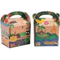 Craftis Kids Recycled Kraft Bizzi Meal Boxes Safari and Zoo (Pack of 200) Pack of 200