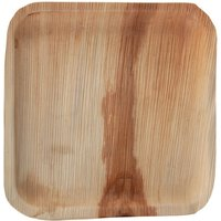 Fiesta Green Biodegradable Palm Leaf Plates Square 250mm (Pack of 100) Pack of 100