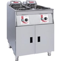 FriFri Super Easy Twin Tank Twin Basket Free Standing Electric Filtration Fryer 651138