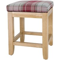 Bolero Austin Low Stools Wine Tartan (Pack of 2) Pack of 2
