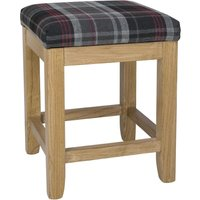 Bolero Austin Low Stools Grey Tartan (Pack of 2) Pack of 2