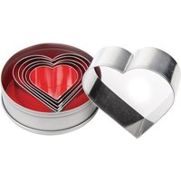 Vogue Heart Pastry Cutter Set (Pack of 6) Pack of 6