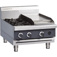Cobra Countertop LPG Hob with Griddle C6C-B
