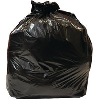 Jantex Large Medium Duty Black Bin Bags 90Ltr Pack of 10