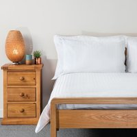 Comfort Satin Duvet Cover White Double