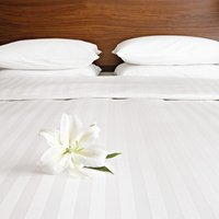 Comfort Satin Flat Sheet Oatmeal King Size