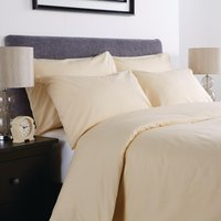 Comfort Percale Fitted Sheet Oatmeal Super King