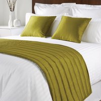Comfort Simplicity Bed Runner Lime Single