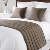Comfort Simplicity Taupe Bed Runner Single