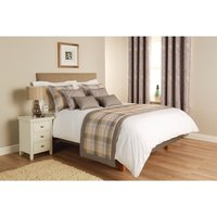 Luxury Chatsworth Bed Runner Slate With Border King Size