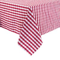Comfort Gingham Tablecloth Red/White Polyester 89 x 89cm