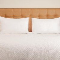 Luxury Chloe Quilted Bed Throw White Super King