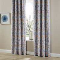 Essentials Moorhouse Eyelet Curtains Wedgewood 270 x 183cm