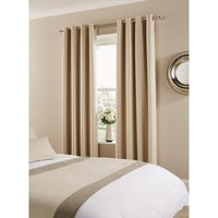 Comfort Tundra Eyelet Curtains Canvas 270 x 137cm