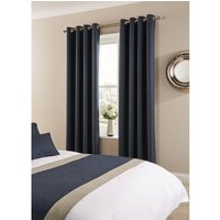 Comfort Tundra Eyelet Curtains Prussian 270 x 183cm