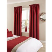 Comfort Tundra Eyelet Curtains Bordeaux 270 x 137cm