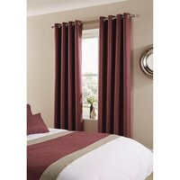 Comfort Tundra Eyelet Curtains Antique Fuchsia 270 x 229cm