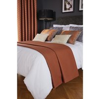 Luxury Deco Bed Runner Copper Delano Single