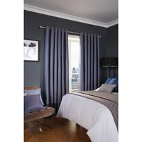 Luxury Deco Eyelet Curtains Cobalt Delano 200 x 183cm