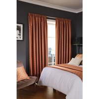 Luxury Deco Eyelet Curtains Copper Shard 200 x 183cm