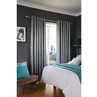 Luxury Deco Eyelet Curtains Azure Fairmont 200 x 183cm