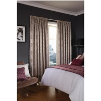 Luxury Deco Eyelet Curtains Damson Empire 200 x 183cm